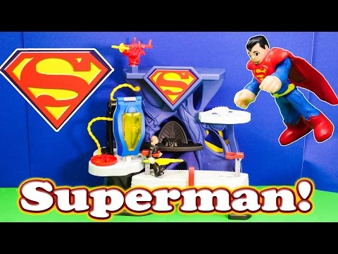 SUPERMAN Imaginext Superman Playset a Superman Video Toy Review