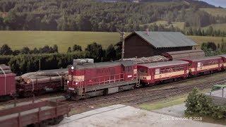 Modely H0: Výstava železničních modelů v Chrudimi 2018 / Excellent and realistic model railway  [4K]