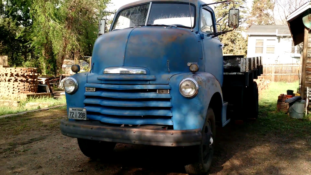 """1950 Chevy coe 5700 - """"under the hood"""" cabover - YouTube"""