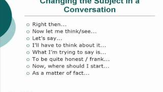 Changing The Subject In A Conversation [Unit 36]
