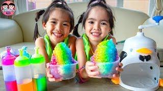 หนูยิ้มหนูแย้ม   น้ำแข็งใสเรนโบว์ Rainbow Shave Ice