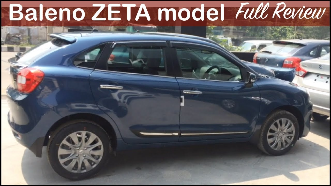 Maruti Baleno Zeta Model Interior Exterior Walkaround And