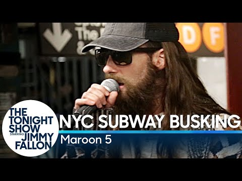 Download Youtube: Maroon 5 Busks in NYC Subway in Disguise
