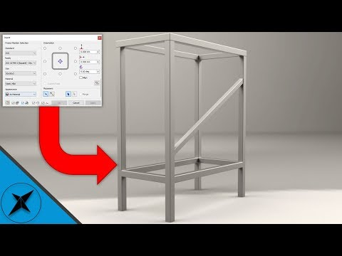 Frame Generator Tutorial (Beginner) as Fast as I Can   Autodesk Inventor