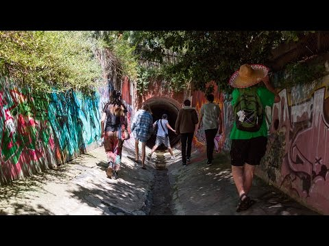 Team exploring Melbourne's 'Maze Drain'