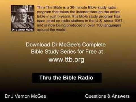 Dr J Vernon McGee Q&A - Divorce & Remarriage
