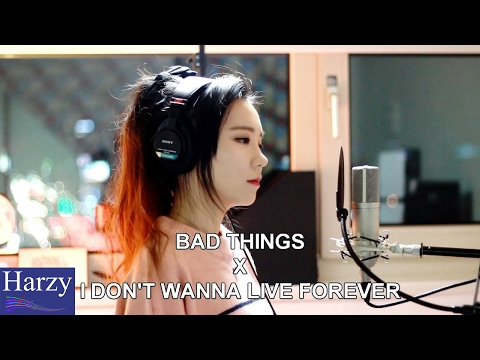 Bad Things & I Don't Wanna Live Forever (MASHUP Cover by J) [1 Hour Version]