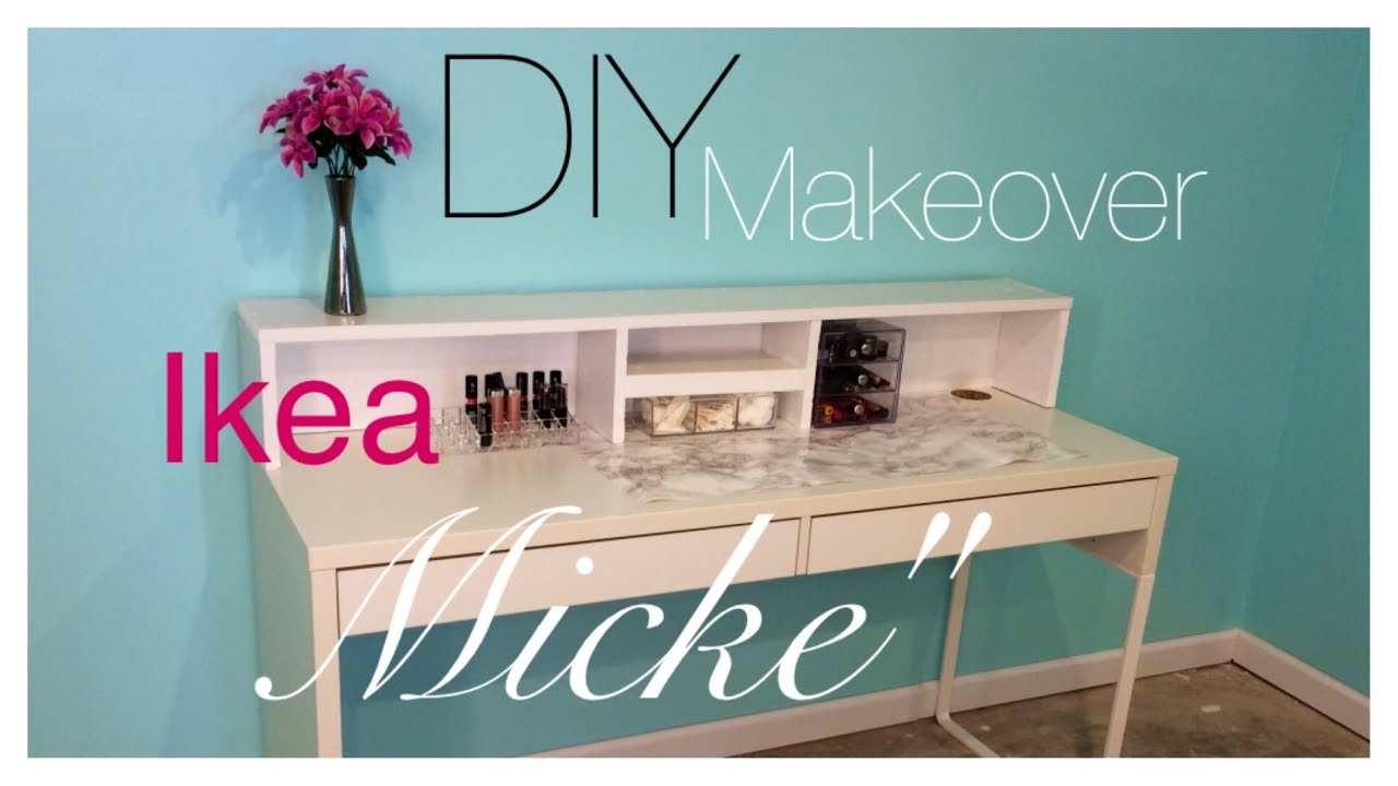 DIY Ikea MICKE Desk Makeover  YouTube