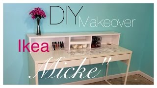 "Diy| Ikea ""micke Desk"" Makeover"