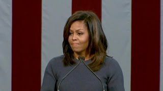 "Michelle Obama condemns Trump's ""shameful comments"""
