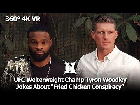 (360° VR / 4K) UFC Welterweight Champ Tyron Woodley + Stephen Thompson Talk UFC 209 Rematch