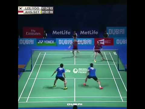 Amazing relly from Hendra Setiawan & Mohammad Ahsan vs Lee yong dae YYS
