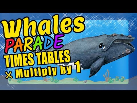 Whales Teaching Multiplication Times Tables x1 Educational Math Video for Kids