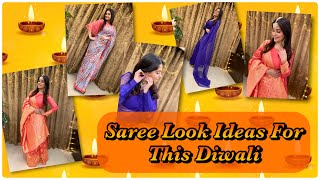 Saree Look Ideas For This Diwali| Saree drapping & makeup | Dipika Ki Duniya| Dipika Kakar Ibrahim