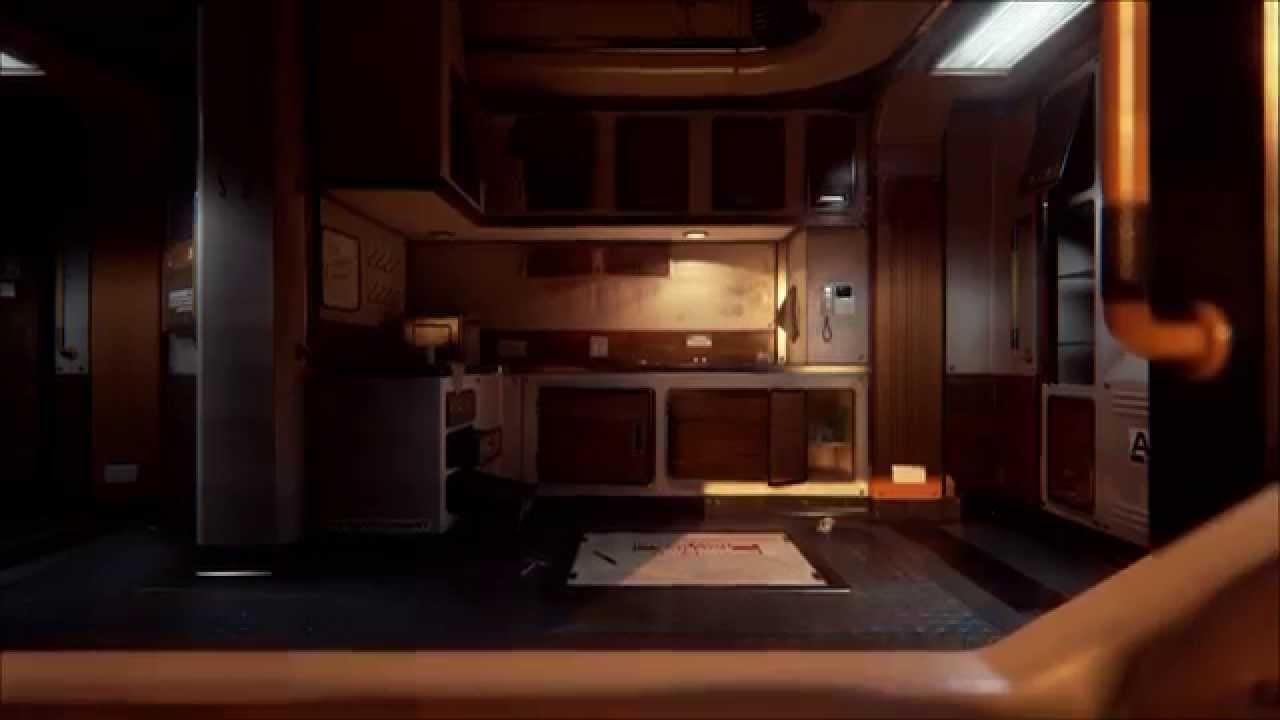 Unreal Engine 4  Scifi Bunk Room  Video Flythrough