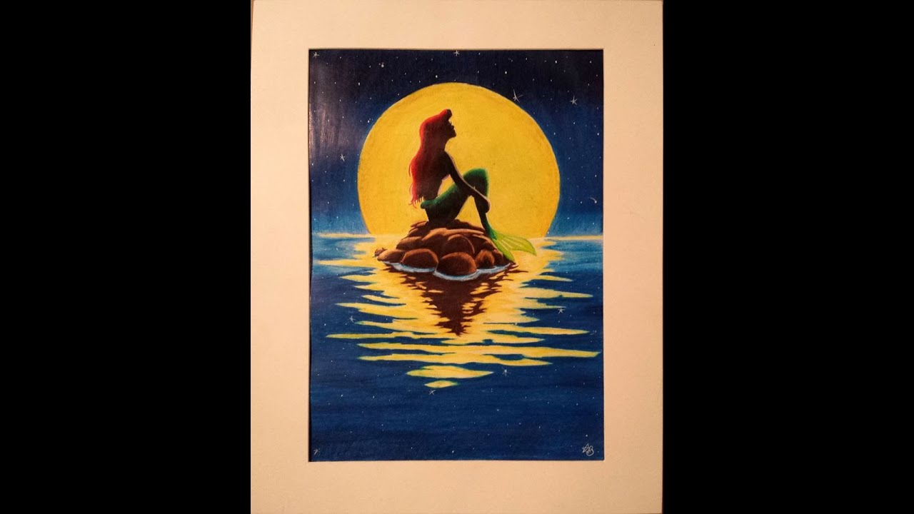 Little Mermaid Disney Silhouette Speed Drawing Part Of