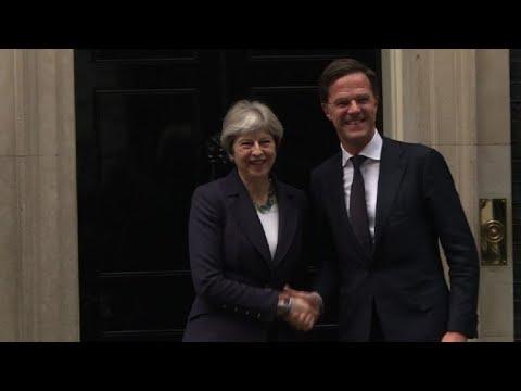 Londres : Theresa May reçoit le Néerlandais Mark Rutte