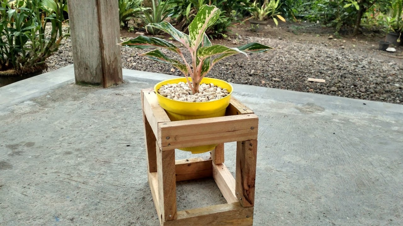 Diy Wood Cube Plant Stand Ideas Part 5 Youtube