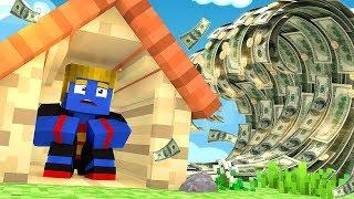 Minecraft: DESAFIO DA BASE 100% SEGURA TSUNAMI DE DINHEIRO | Afreim