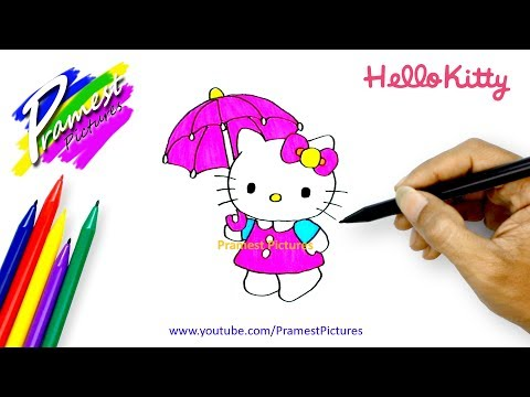 How To Draw Hello Kitty | Cartoon Coloring Pages For Kids