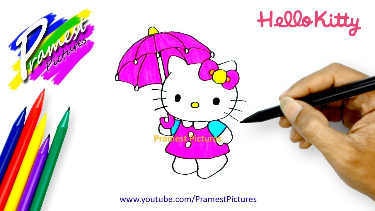 Hello Kitty Cara Menggambar Dan Mewarnai Gambar Kartun Untuk Anak