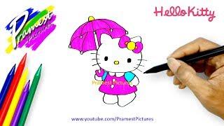 Hello Kitty | Cara Menggambar Dan Mewarnai Gambar Kartun untuk Anak-anak #2