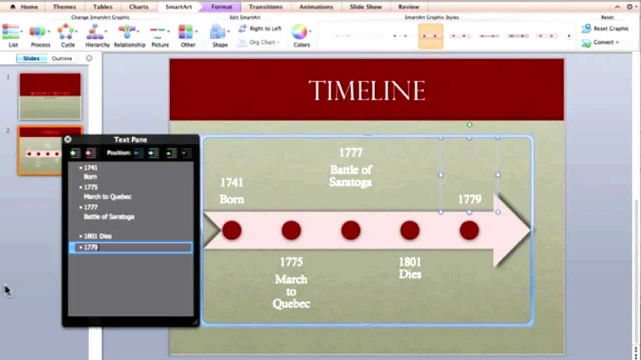 Creating a Timeline in PowerPoint - YouTube