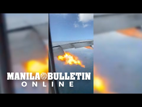None - Jet engine starts shooting flames mid-flight!