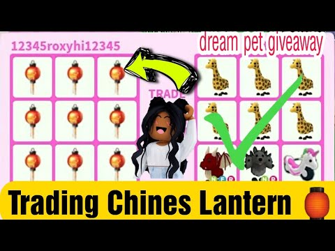 Trading Chinese Lantern In Richest Adopt Me Server And Mega Trades