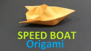 How To Make a Paper SPEED BOAT - Jebag Origami