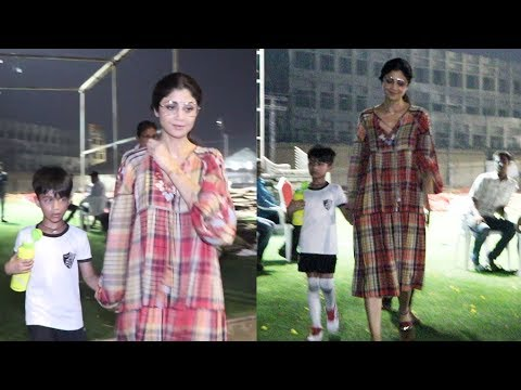 Shilpa Shetty SPOTTED with Son Viaan at Football Stadium