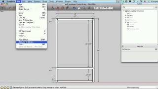 Sketchup For Woodworkers - Dimensions And Printing