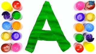 Learn ABC's with Watercolor|ABCDEFGHIJKLMNOPQRSTUVWXYZ |Letters ABC Learning for Kids|ABC Song