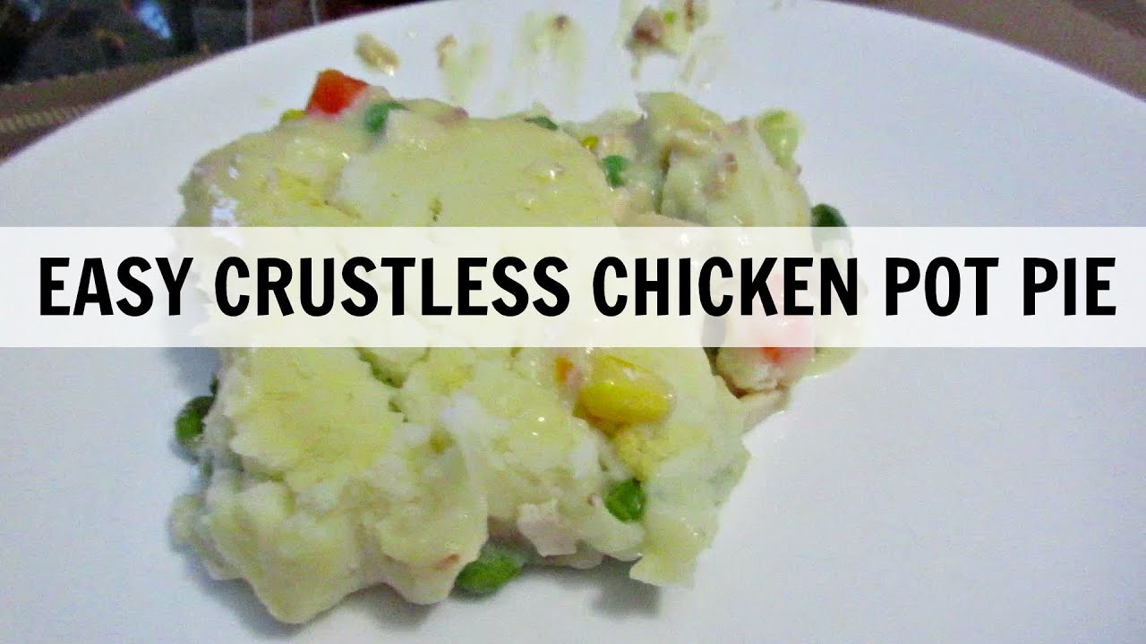 EASY CRUSTLESS CHICKEN POT PIE | What's Cooking Wednesday? - YouTube