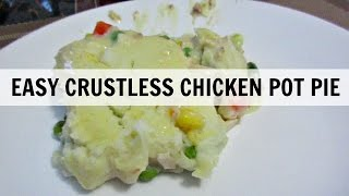 Easy Crustless Chicken Pot Pie | What's Cooking Wednesday?