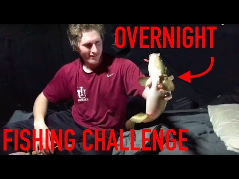 SLEEPING In Portable Ice Fishing House On Mille Lacs - OVERNIGHT CHALLENGE!!
