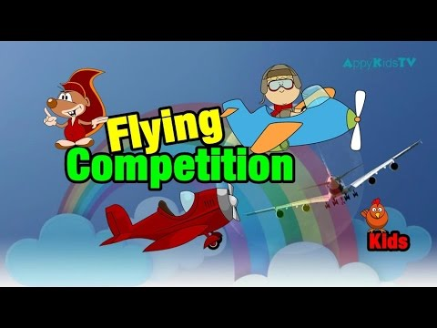 Super Kids on Plane Flight Competition | Funny Games for ...