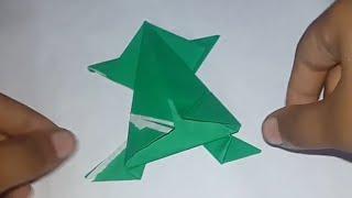 How To Make A Paper Frog Jumps 🐸 ||Mister Maker||
