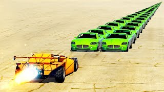 Can A Ramp Car Flip 1000+ Vehicles In A Row? (GTA 5)