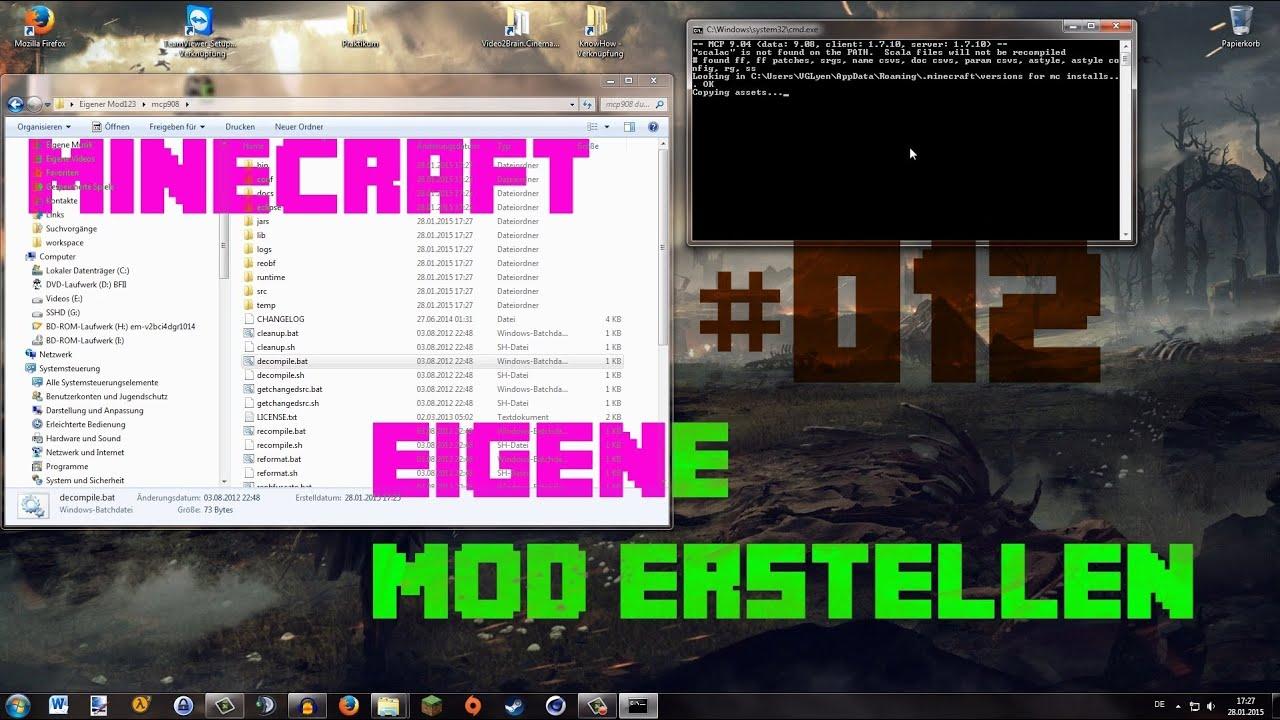 Eigene Minecraft Mod Erstellen Eigenes Erz Generieren Lassen - Minecraft server erstellen mit mods 1 7 10