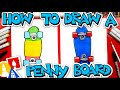 How To Draw A Penny Board