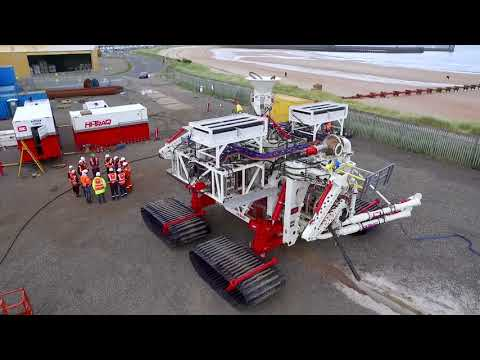 Royal IHC's Hi-Traq trenching vehicle during trials