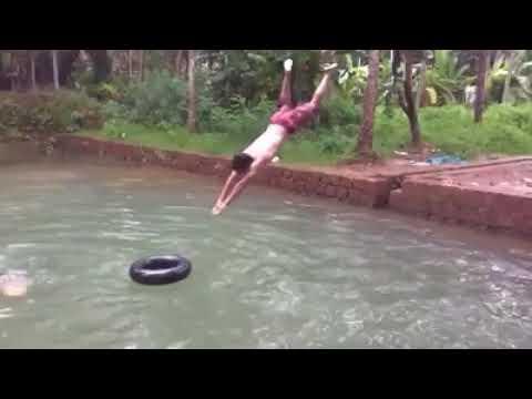 Kerala boy diving talent