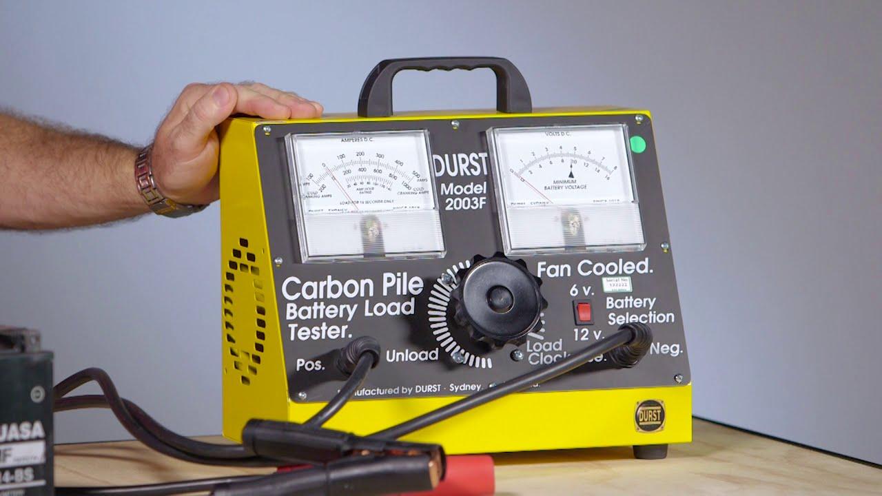 8 Volt Battery Load Tester : Durst bt f battery load tester youtube