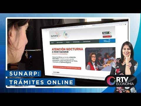 SUNARP: ¿cómo realizar trámites online en Registros Públicos? | RTV Economía
