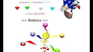 Roblox: Local das esmeraldas do Chaos no Sonic ultimate RPG