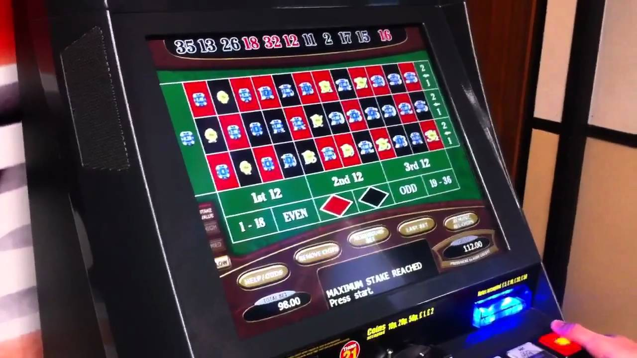 Big win on roulette machine