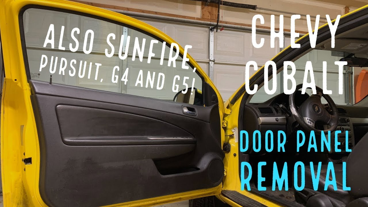 Chevy Cobalt Door Panel Removal Also Sunfire Pursuit G4 And G5 Youtube