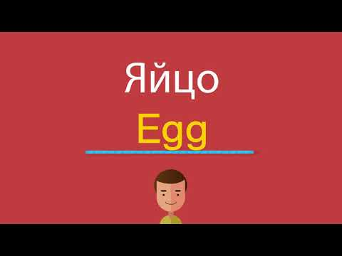 Как по английски будет слово яйцо