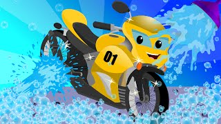 Sports Bike | Car Wash for Kids & Toddlers | Game Video(VISIT OUR OFFICIAL WEBSITE : https://www.uspstudios.co/ WATCH KIDS CHANNEL VIDEOS ON OUR WEBSITE TOO ..., 2016-07-18T12:30:00.000Z)